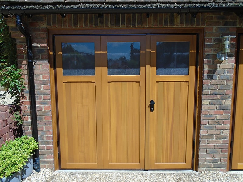 Cardale Ibstoke 1/3 2/3 split with glazing fully finished in light oak